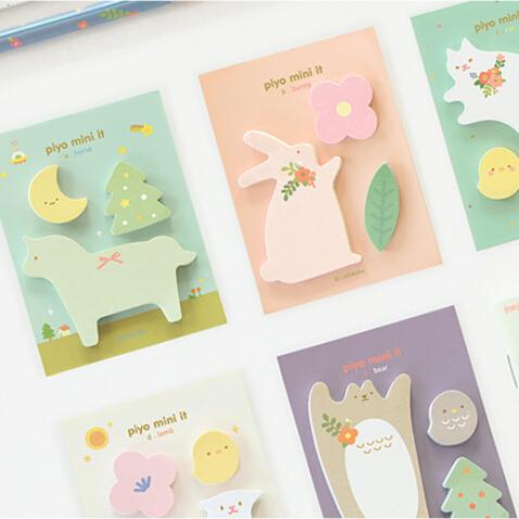 DIY Cute Kawaii Animal Memo pad Mini Lovely Cartoon Cat Bear Post It Note for Kids Korean Stationery Free shipping 328<br><br>Aliexpress
