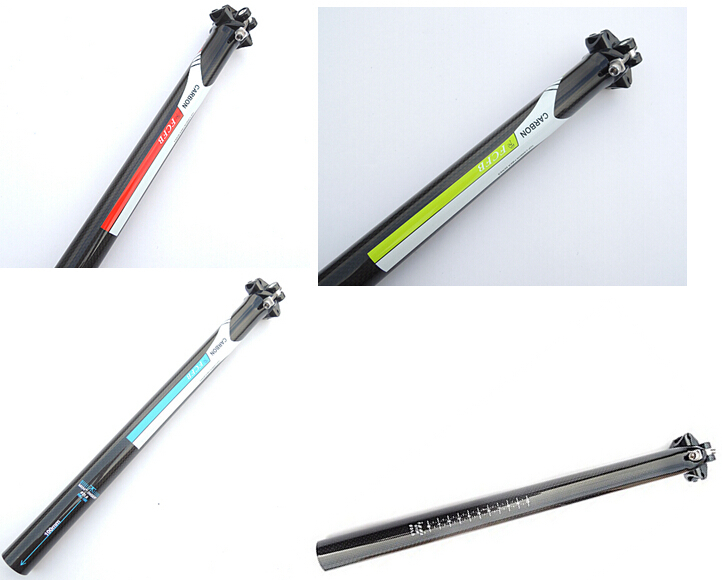 sale hot 2015 FCFB FW High quality 0 mm Offset carbon fiber bicycle bike MTB bicycle seat posts spike 3K 27.2 / 30.8 / 31.6 mm<br><br>Aliexpress
