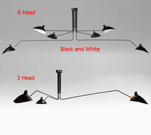 Nordic 3 Arm 6 Arm Replica Rotating Retro Ceiling Lights Duckbill Adjustable Dining Room Lighting Ceiling
