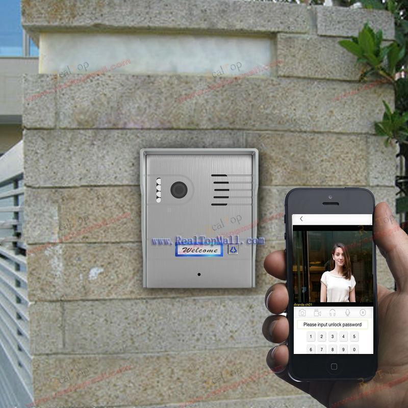 wifi ip video intercom world first support Two-way voice communication wireless video door phone(China (Mainland))