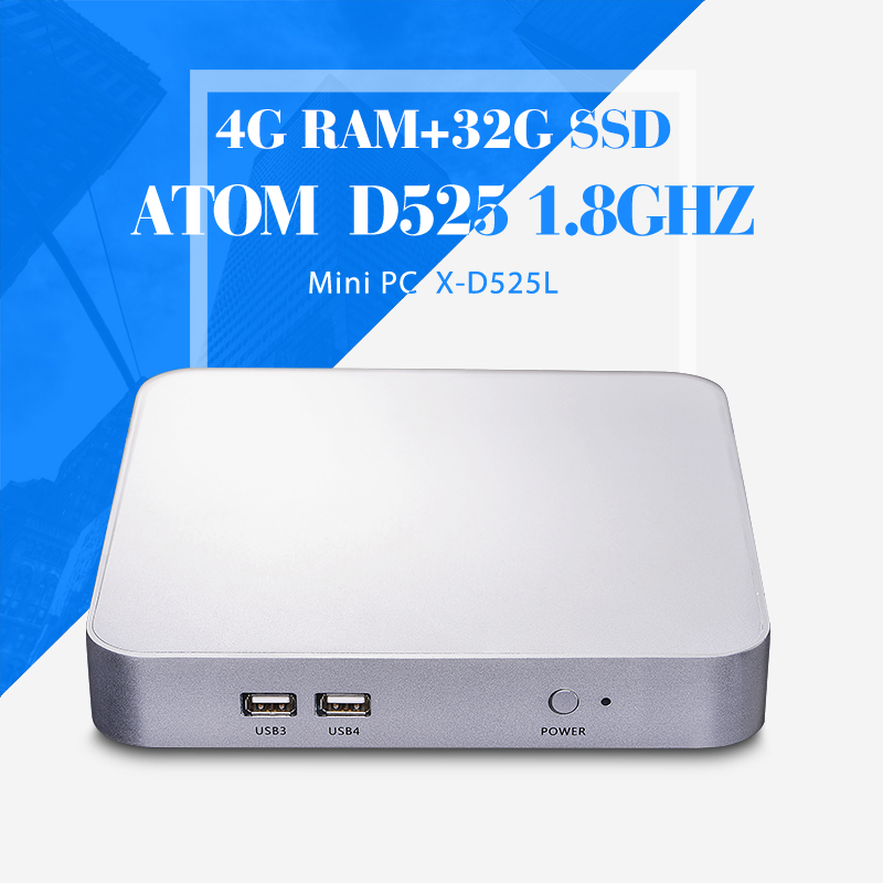 Mini Computer Networking Industrial Panel PC D525 4g ram+32g ssd+wifi Wireless Thin Client Net Computer Virtual PC(China (Mainland))