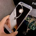 Manual DIY Luxury Pearl Diamond Case For iphone 5 6 plus Samsung Galaxy J1 J5 J500 J7 J700f 2016 Cute Bowknot Bling Hard Cover