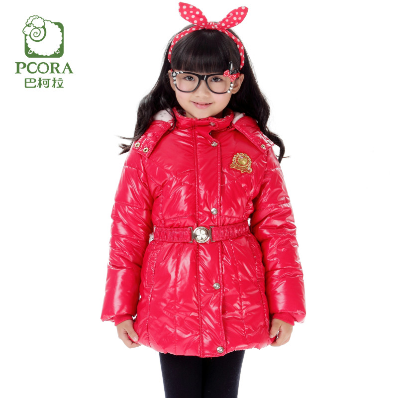 High Quality Girls Winter Coat Thicken Warm Fashion Zipper Hooded Cotton Down Jacket &amp;Coat Kids Clothes With Adjustable Wais<br><br>Aliexpress