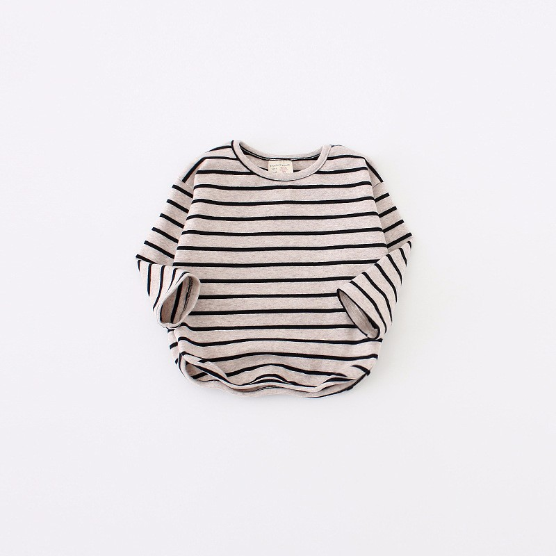 2017 Newborn Cotton Stripe Toddler Kids Baby Girls Boys Infant Shirt Top Blouse Tshirt Long Sleeve Spring Warm Clothes 1-4 Years