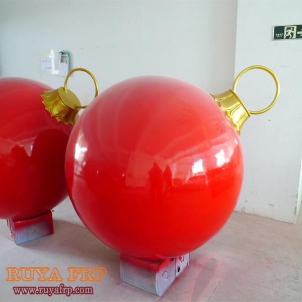 40cm 185cm diameter christmas ball decoration fiberglass for Outdoor christmas balls