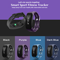 Smart wristband Bracelet Bluetooth heart rate monitor fitness OLED touch screen For IOS Android System PK