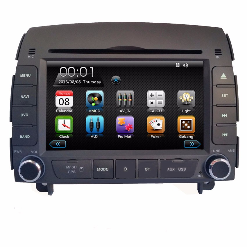 "2 Din 7"" Car GPS DVD player For Hyundai sonata NF 2004 2005 2006 2007 2008 3G/Wifi USB port Radio RDS Ipod TV BT Navigation Maps"
