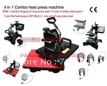 Free Shipping 2012 New Design 9 in 1 combo heat press machine