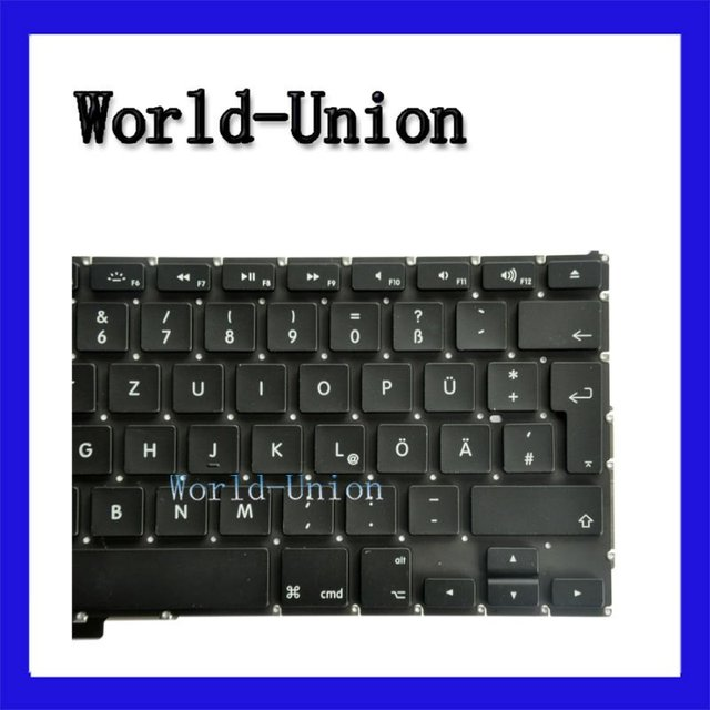 """2pcs/lot Hot selling New Original Keyboard for 17"""" MacBook Pro Unibody A1297 German layout,100%working & wholesale price!"""