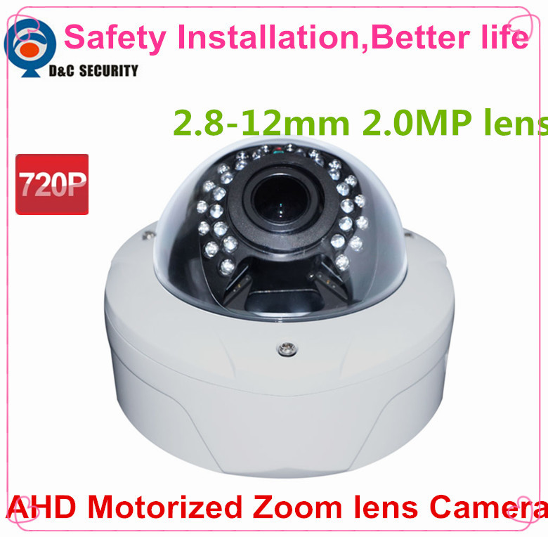 Safety Installation 1.0 Mega Pixel 720P 2.8-12mm Motorized Zoom Lens OSD Controlled Through AHD DVR Auto Zoom Lens AHD Camera(China (Mainland))