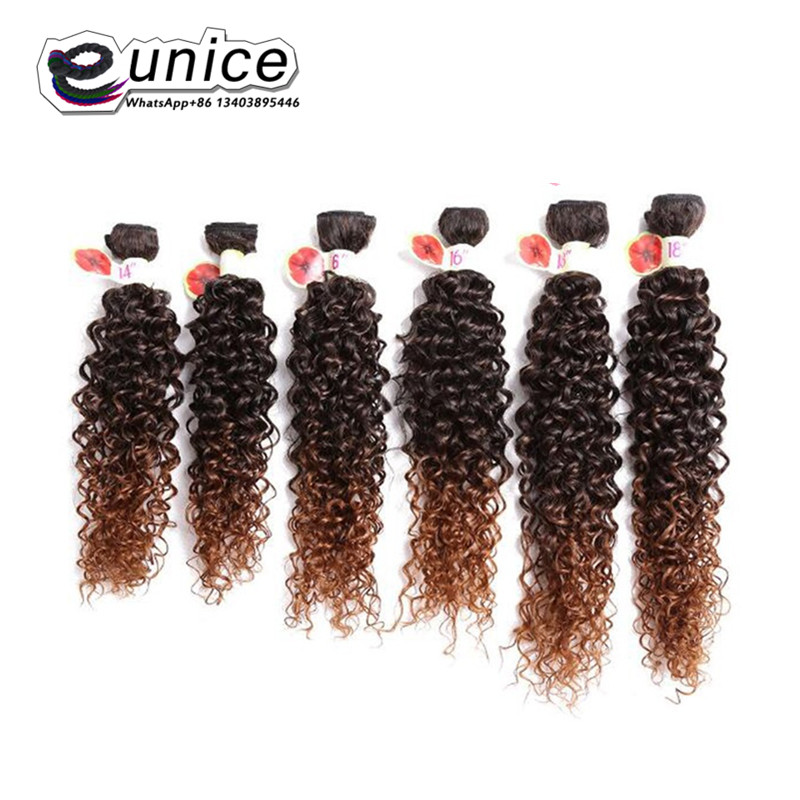 Jerry Curly Weave Hair Extension Sew in Synthetic weaving Wefts (5)