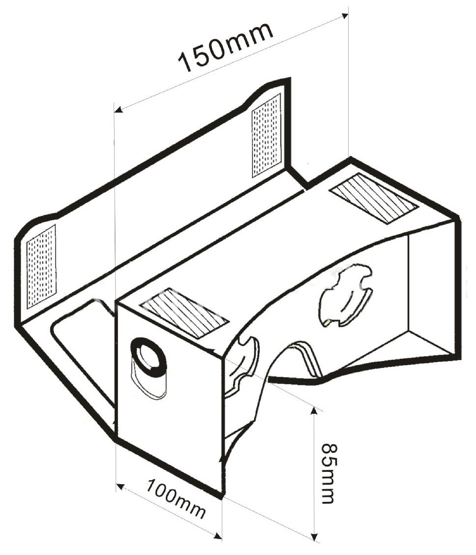 Google VR 3D Glasses Virtual Reality DIY Google Cardboard Virtual Reality VR Mobile Phone 3D Video Glasses for 5″~6″ Screen