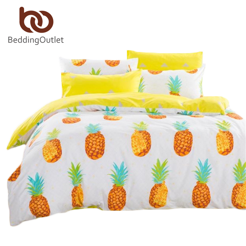 Dropshipping Pineapple Bedding Set Sweet Printed Fruit