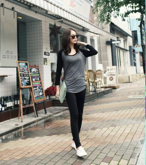 2016 new fashion women clothing plus size t shirt korean style punk sexy tops tee hot trendy clothes Long sleeve Mixed colors(China (Mainland))