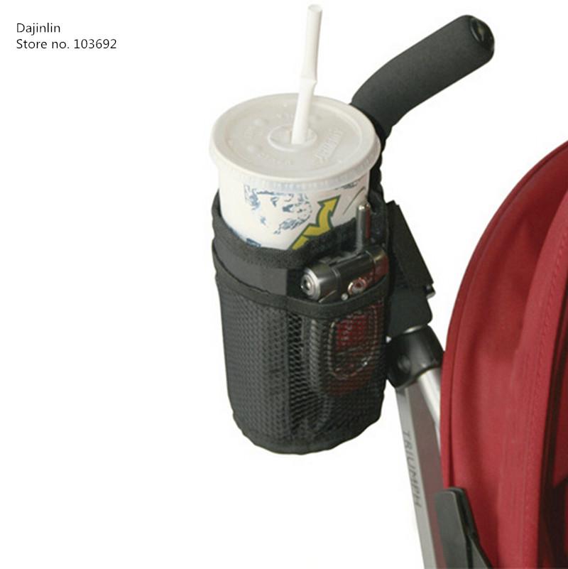 Baby stroller cup holder universal children's bicycle bottle rack Black baby cup holder trolley child car water bottle holder()