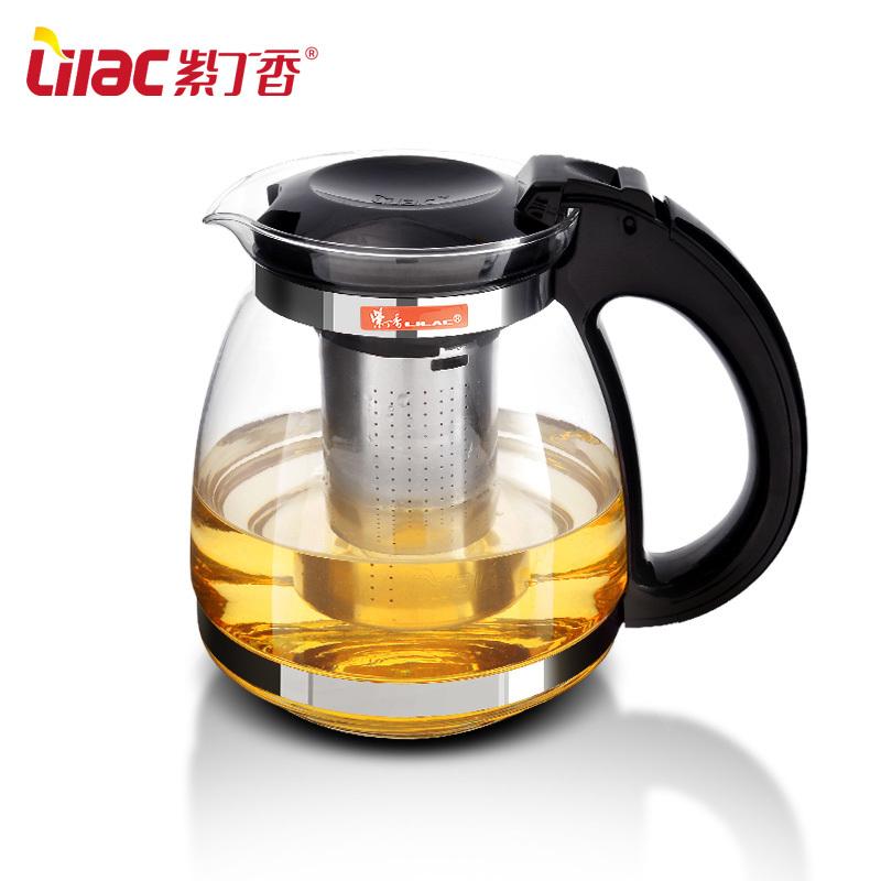 Lilac resistant glass teapot filter liner flower pot tea with large tea teapot 1500ml(China (Mainland))
