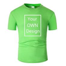 Sua PRÓPRIA Marca de Design Do Logotipo/Imagem Personalizado Homens e mulheres DIY camiseta de Algodão de manga Curta T-shirt Casual tops roupas Tee(China)