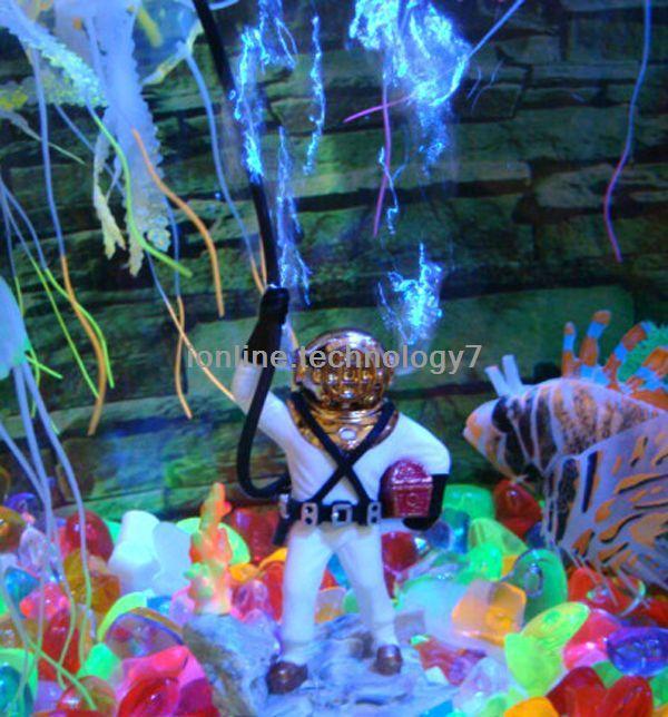 Fish tank decorations bubbling diver aquarium for Aquarium diver decoration