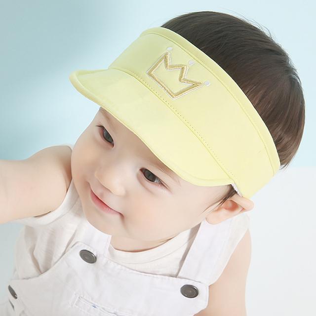 Мальчик / девушки корона печатных шляпу регулируемые крышки Snapback летнего солнца шляпы для 3-18Months