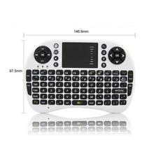 Бесплатная доставка продавать американские британский клавиатура 2.4 г рии i8 беспроводная клавиатура сенсорная панель airfly мышь для tv box планшет мини