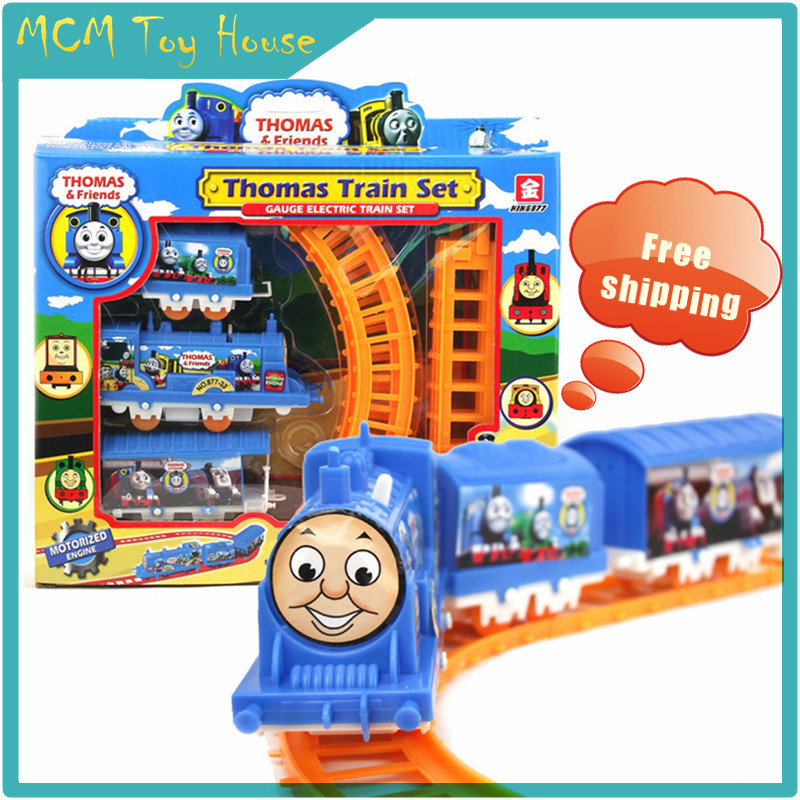 Analog electric rail train model/Thomas&friends Track Train/Puzzle Assembly Early Educational Toy/1-3 years old/Classic toys(China (Mainland))
