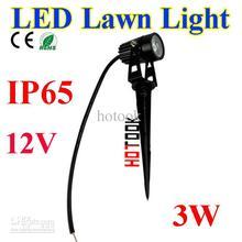 Free Shipping Waterproof IP65 12V 3W 1x3W Outdoor LED Lawn Light Garden Lamp Park Road Spotlight Spot Walkway Bulb Pathway Light(Hong Kong)