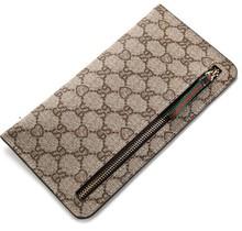 New flat zipper wallet card holder coin purse organizer mobile phone bag free shipping(China (Mainland))