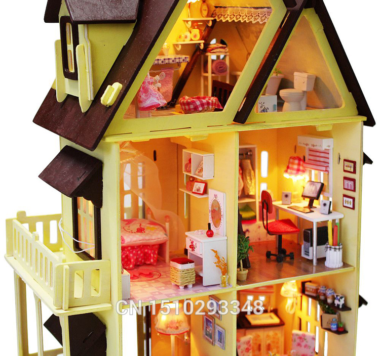 Wholesale 13809 Diy Doll House With Furniture Handmade Model Building Kits 3d Villa Miniature