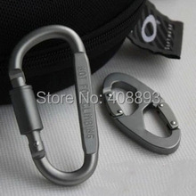 1 PC Outdoor tools aluminium alloy multi-fushional climbing hiking camping stuffs clasp mosquetao paracord carabiner C154131