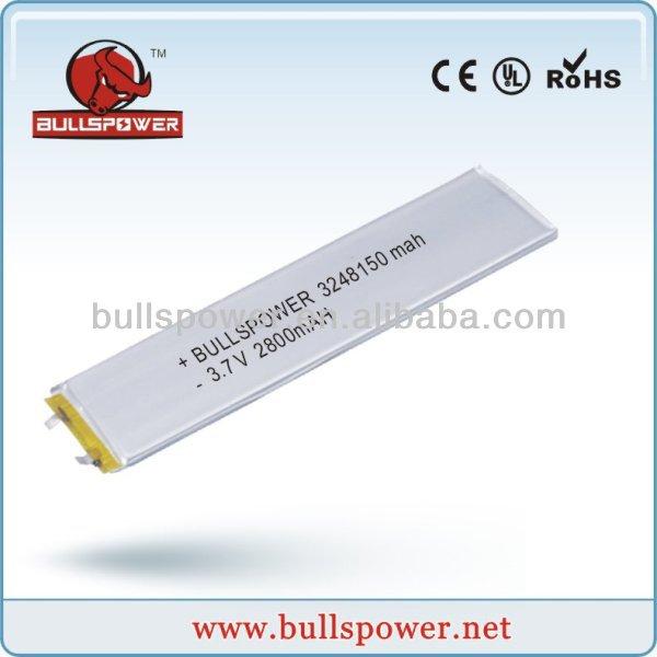li polymer battery 3.7V2800mah 3248150/li-polymer batteryfor rc car/ table pc li-ion battery 3.7v 2800mah/rechargeable mobile(China (Mainland))