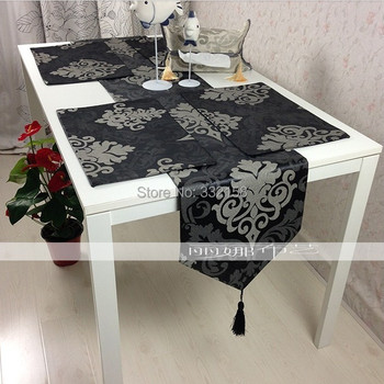 fashion plate Table runner luxury brief bed flag thickening cloth table mats table linen placemat