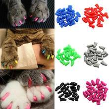New 20 Pcs coloré animal doux chien chats chaton Paw Claws contrôle Nail Caps couverture taille XS S M L XL XXL(China (Mainland))