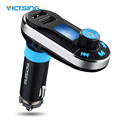 VICTSING 360 Degree Rotation Wireless Bluetooth Car Music Player FM Transmitter Support USB Charge TFCard USB