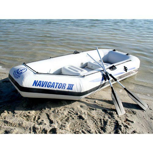 free DHL shipping JiLong Navigator III 2 persons inflatable fishing boat, air boat pump & paddle cushion - Show You The Best store