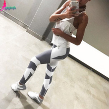 Goodbuy 2016 Women's Leggings Patchwork Fitness American UAE Legging Jeggings Work Out Cotton Women Lady Pants Elastic Leggins(China (Mainland))