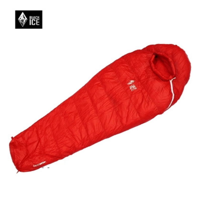 G700 Ice Black Ultralight Outdoor Mummy type White Goose Down Camping Hiking Sleeping Bag Single M 75x195cm/L 80x205cm