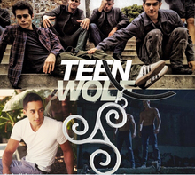 #819 Euro-American Movie Wolf Teen Pendant Necklace Alloy Necklace With Rope For Male Jewlery Accessory 24pcs/lot