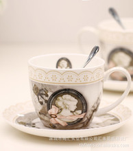 Supplying European Famous bone china coffee cup and saucer suit [exclusive] grade ceramic coffee mugs wholesale