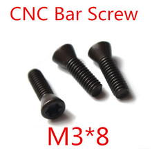 50pcs M3 x 8mm M3*8  Insert Torx Screw CNC Bar Replaces Carbide Inserts CNC Lathe Tool