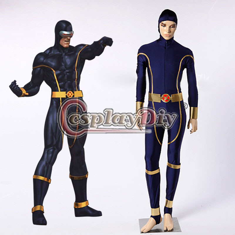 X-men Cyclops Cosplay Costume Version 01 Adult Men Carnival Party Outfit Custom Made D0824Одежда и ак�е��уары<br><br><br>Aliexpress