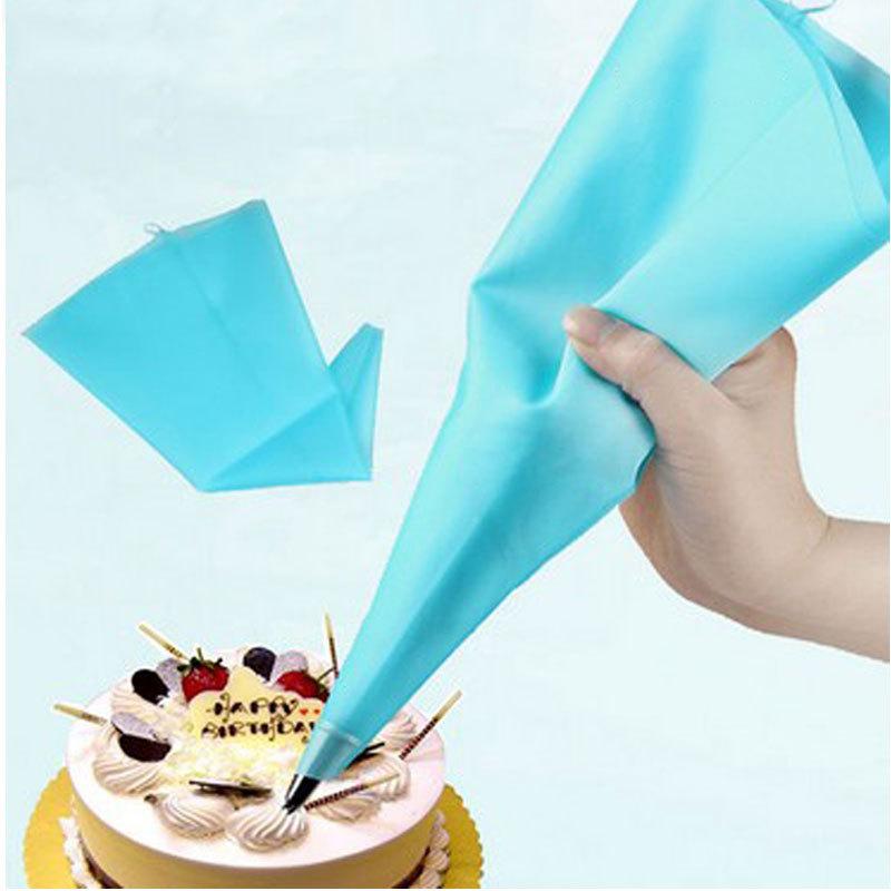 "Portable 13"" Reusable Silicone Icing Piping Cream Pastry Bag Cake DIY Decorating Tool #58097(China (Mainland))"