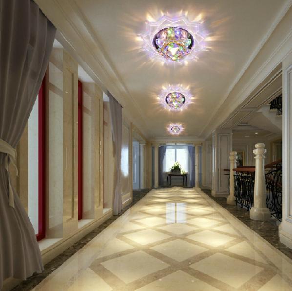 Здесь можно купить  3W bedroom corridor light crystal living room light chandelier abajur lights & lighting AC200-240V chandelier free shipping  Свет и освещение