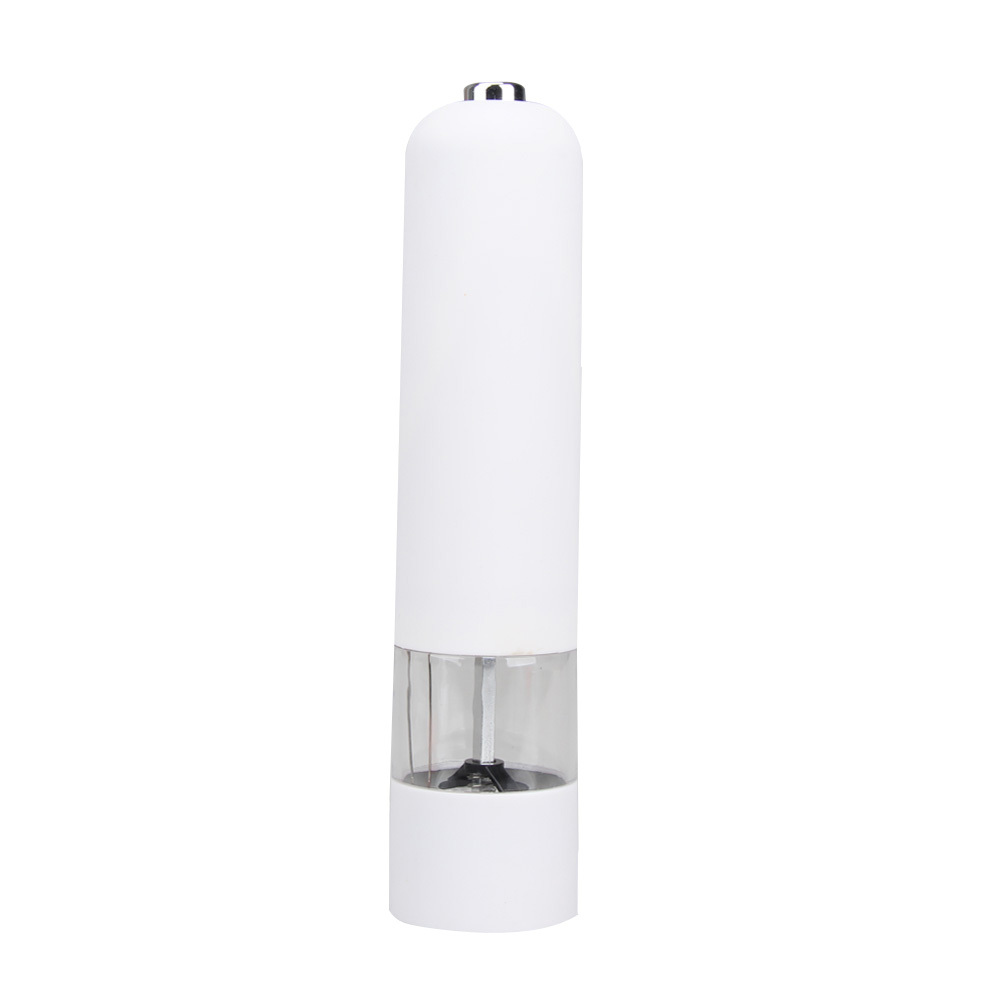 Hot Sales Plastic Electric Spice Salt Pepper Mill Miller Grinder for Kitchen White Free Shipping(China (Mainland))
