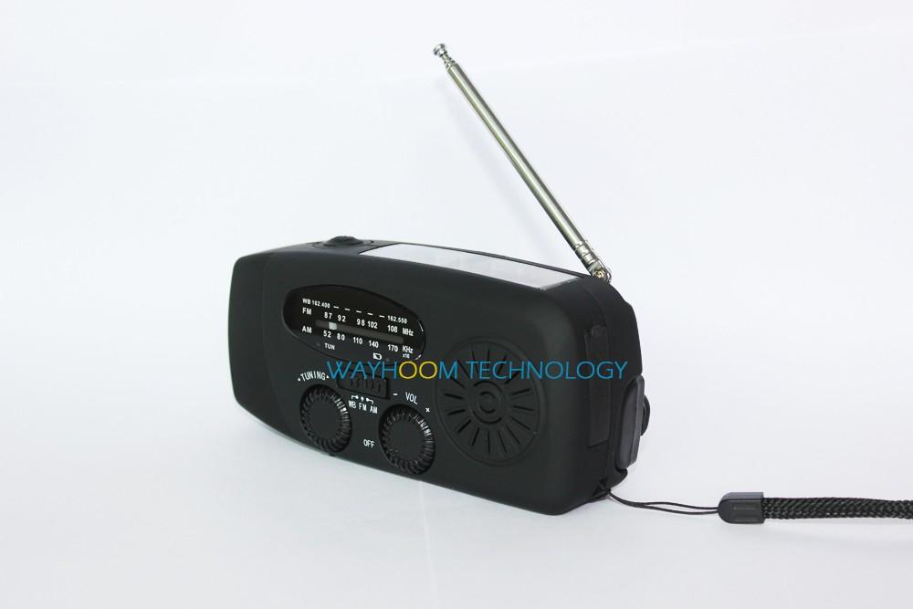 Hand Crank Radio AM/FM/NOAA Solar Radio Dynamo 3 LED Flashlight Emergency Phone Charger
