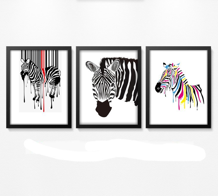 Zebras Pictures to Print Print Colourful Zebra