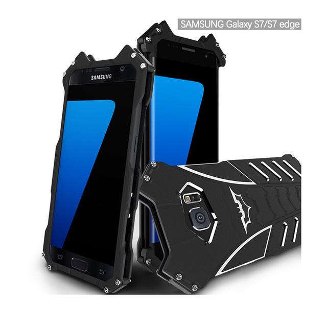 BATMAN case Для Samsung Galaxy S7 S7 Edge S6 S6 edge примечание 5 R-JUST Броня Алюминий Металл задняя крышка case
