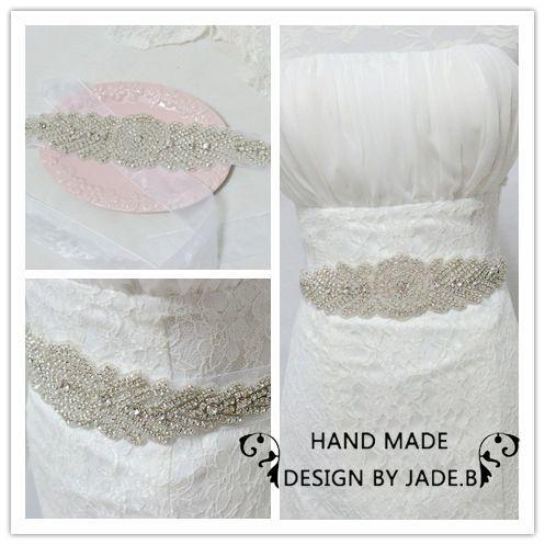 Vintage crystal Bridal Belt shinning woman Waistband wedding full beaded rhinestone sash party dress XW05 - Kay's Wedding store