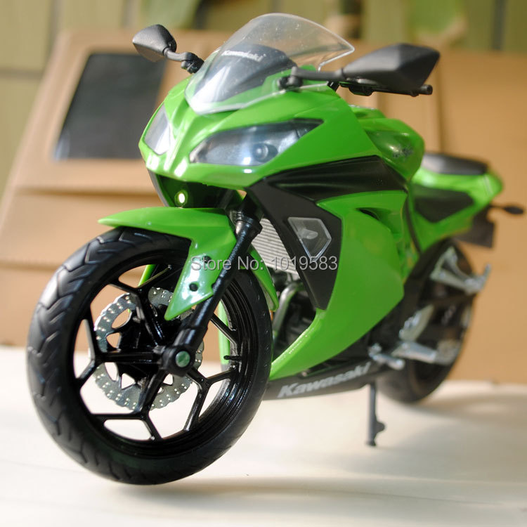 Brand New Cool 1/12 Scale Diecast Motorcycle Model Toys Kawasaki Ninja 250 Green Color Motorbike Metal Model Toy For Gift/Kids(China (Mainland))