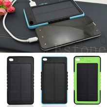 New 8000mAh Waterproof Solar Panel External Battery Power Bank Charger For Phone(China (Mainland))