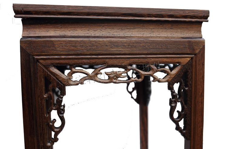 wood carved mahogany handicraft furnishing articles household act the role ofing is tasted real wood flower stands tall base(China (Mainland))